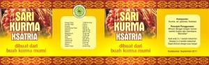 Desain Box Sari Kurma Ksatria Botol