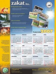 Desain Kalender LAZ Al Hurriyyah