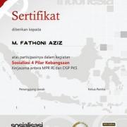 Sertifikat Sosialisasi 4 Pilar