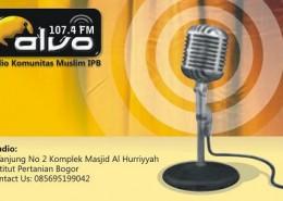 Kartu Nama Alvo FM (depan)