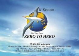 Kartu Nama Member K-Link (belakang)