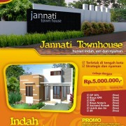 Leaflet Jannati Townhouse (depan)